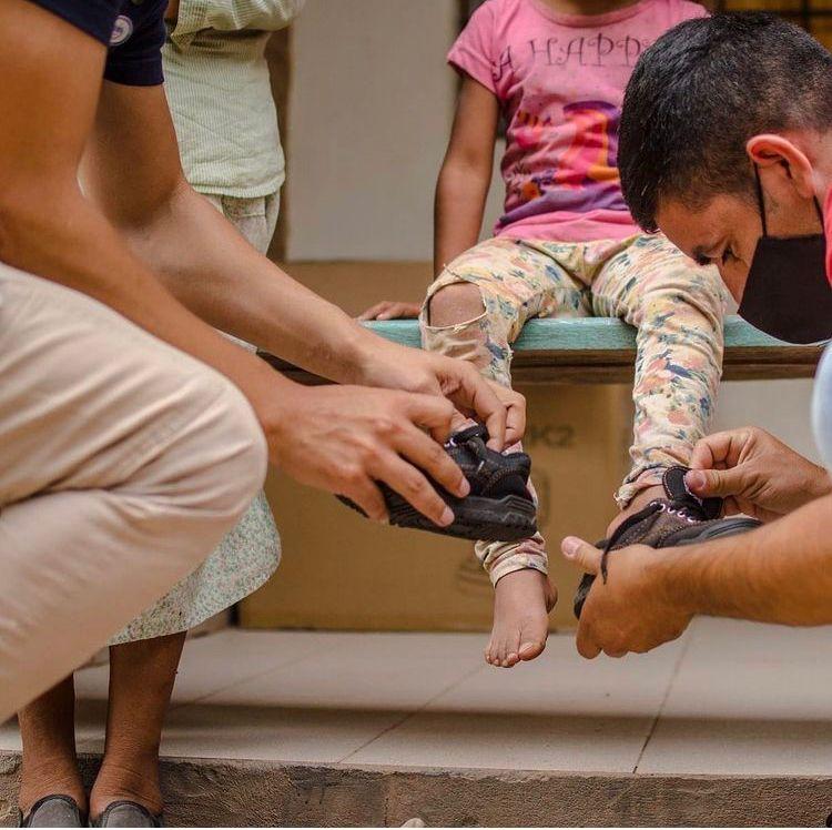 Samaritanfetet.org dona zapatillas
